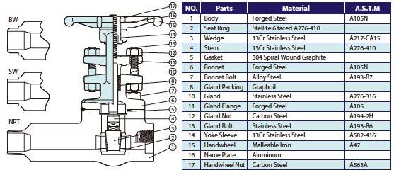 SWI forged steel valves